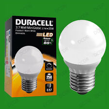 2x 3.7W Dimmable Duracell LED Pearl Mini Globe Instant On Light Bulb ES E27 Lamp
