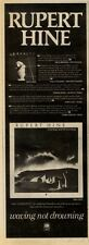 "24/4/82PGN44 ADVERT 15X5"" RUPERT HINE : WAVING NOT DROWNING"
