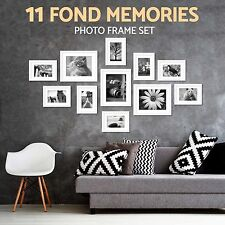 Modern 11 Pieces White Wall Hanging Display Home Decor Picture Photo Frame Set