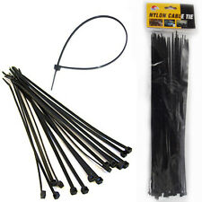 80 Nylon Cable Ties 30CM Black Plastic Zip Wire Fastening Strap Tie Durable 30cm