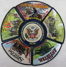 Civil War Sesquicentennial Union Army Full Color 6-Patch Set Navy Blue Border
