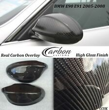 BMW 3 Series E90 E91 Carbon Fibre Wing Mirror Covers *CLIP ON* 2005-2008 Models
