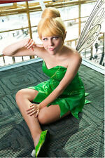 Fairy Tinker Bell Tinkerbell Yellow Short Synthetic Hair Wig Wigs for Cosplay