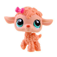 Littlest Pet Shop LPS Orange Curly Sheep Lamb Rare Hasbro Gift Toy Animals
