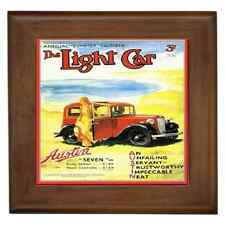 AUSTIN RUBY 1935 CLASSIC CAR POSTER CERAMIC FRAMED TILE-WALL DECO, SUPERB GIFT
