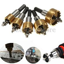 5PCS HSS 6542 Carbide Tip HSS Drill Bit Hole Saw Holesaw Set Metal Alloy 16-30mm
