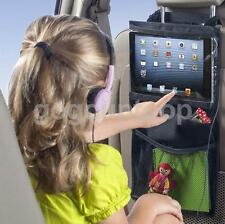Car Back Seat Bag Hanging Storage Bag Organiser Tablet Holder for Kids Black