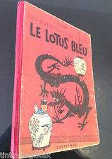 TINTIN: Le Lotus Bleu 1946 1st Colour Edition Originale Casterman EO Herge Blue