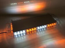 """NEW 40 LED Amber Clear White Emergency Plow Tow Truck 22"""" Strobe Light Bar Roof"""