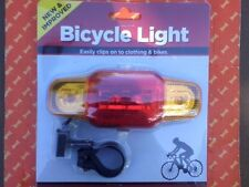 5 LED Rear Bike Safety Warning Light Multi Functions (Free new 2 AA BATTERIES)