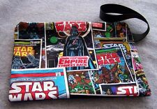 Star Wars Clutch Bag Pouch Licensed Fabric Comic Style Geek Vader Skywalker