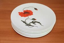 Wedgwood Cornpoppy Bone China Set of 8 Salad Plates (9in Diameter) Susie Cooper