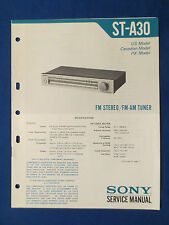 SONY ST-A30 TUNER SERVICE MANUAL ORIGINAL FACTORY ISSUE GOOD CONDITION