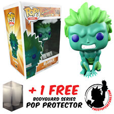 FUNKO POP STREET FIGHTER BLANKA BLUE GREEN EXCLUSIVE + FREE POP PROTECTOR