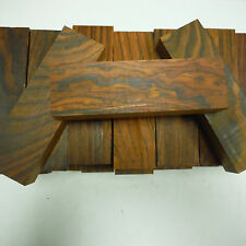 "20 kiln dried, 100% heartwood cocobolo rosewood knife blanks 5"" x 1.5"" x 1"" inch"