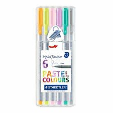 Staedtler Triplus Fineliner 334 SB6CS1 Desktop Box - Assorted Pastel Colours (Pa
