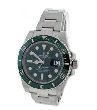 ROLEX Submariner Stainless Steel Ceramic Bezel 116610LV Green Hulk Watch
