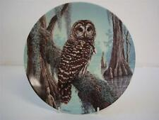 BRADEX KNOWLES CLASS THE STATELY OWLS SERIES THE BARRED OWL  PLATE