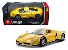 BBURAGO 1/24 FERRARI RACE & PLAY ENZO FERRARI DIECAST CAR 18-26006 YELLOW