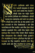 GAME OF THRONES - THE NIGHT'S  WATCH OATH - QUALITY GLOSSY PHOTO PRINT - A4 SIZE