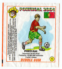 Portugese Gorila Wax Wrapper Euro 2004 - Team Colours & Flag #1 Portugal Type 1