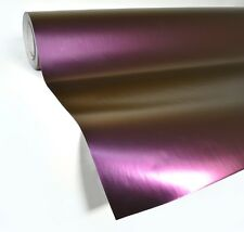 "Purple satin chameleon vinyl car wrap 25ft x 56"" adhesive film decal stretch"
