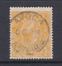 POSTMARK:  AVOCA  TASMANIA ON 4d ORANGE  NICE CANCEL.