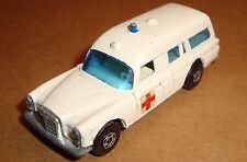 Vintage 1968 Matchbox Superfast No 3 Mercedes Benz Binz Ambulance 3c