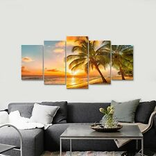 Framed Canvas Art Print Photo Pic Wall Home Decor Poster Landscape Sea Beach Sun