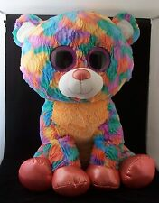 "LARGE! JUMBO! 27""! Hugfun Int'l Tie-dye Colorful Teddy Bear Plush Stuffed Animal"