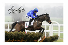 Hurricane Fly and Ruby Walsh signed Photo Print A4 Size NH Horse Racing