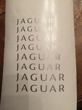 8pc Silver Jaguar Brake Caliper Vinyl Sticker Decal Logo wrap