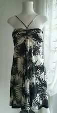 Mango palm print sun dress  size 12