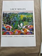 LeRoy Neiman Poster GOLF ART I-IMAGE FOR SHOW AT HAMMER GALLERIES NY.