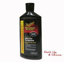 Meguiars M105 Ultra Cut Compound 236ml & Qty 2 Buffing Cloths