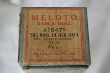 """THE ROSE IN HER HAIR"" VECCHIO RULLO PER PIANOFORTE o AUTOPIANO /OLD DANCE ROLL"