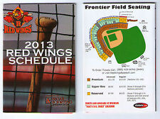 2013 Rochester Red Wings pocket schedules calendars TWO 2 lot