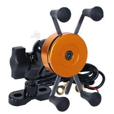 Universal Waterproof Motorcycle Cell Phone Handlebar Mount Holder & USB Charger