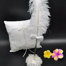 Ostrich Feather Long Quill Rhinestone Pen For Wedding Guest Book Signing Pen