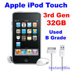 Genuine Apple iPod Touch 32GB 3rd Generation Black Used B Grade MP3 Player Gift