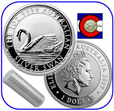 2017 Australia Swan 1 oz. 0.9999 Silver - 20 Coin Roll -- 1st Coin in New Series