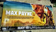 Max Payne 3 Marketing Poster/Banner Double Sided 6ft x 3ft