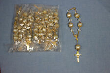 new 12 pieces decade Chalice Rosary 1st Communion confirmation party favor white