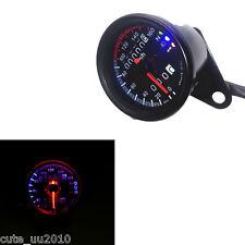 Black LED Backlight Signal Motorcycle Odometer KMH Speedometer Gauge Cafe Racer
