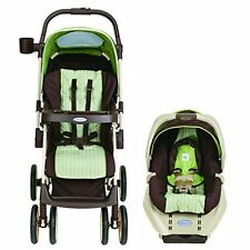 Graco Alano BABY TRAVEL SYSTEM, Convertible STROLLER & CAR SEAT, Sweet Pea