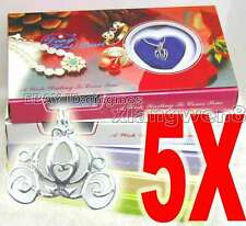 SALE Wholesale 5X different pendants Wish Pearl Necklace Gift set box-who3622