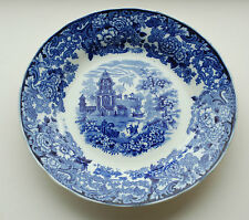 "VINTAGE WEDGWOOD 'CHINESE' PATTERN Pagoda BLUE & WHITE TRANSFERWARE 9"" PLATES"