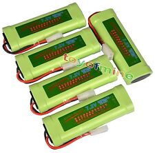 5 pcs 7.2V 3800mAh Ni-Mh rechargeable battery pack RC w/ Tamiya Plug USA
