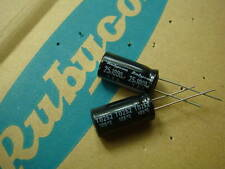 50 Rubycon capacitors YAX  25V 1000uF 10X21mm original
