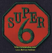 LMH PATCH Badge  SUPER 6 Services  Octagon Stop Sign Logo Insignia Red Green  3""